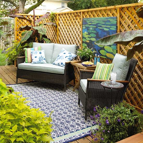 Backyard Room Ideas :  outdoorroomseasyoutdoorroomideas?socsrc=bhgpin090412wallartpatio