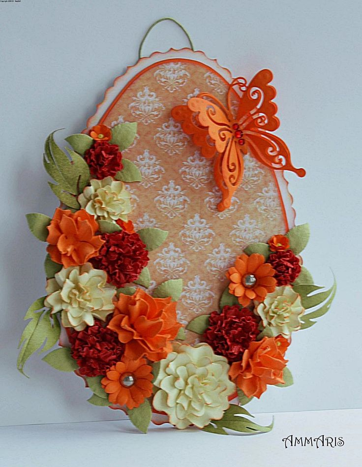 Easter ... home ... decor ... decoration ... diy ... handmade ... hand made ... homemade ... scrapbooking ... vintage ... butterfly ... flower