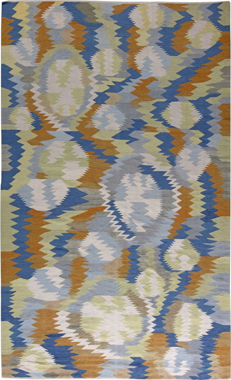 Captivating Swedish Flat Weave Rug N11331 By Doris Leslie Blau