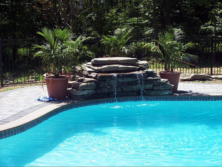 In Ground Pools With Waterfalls Pool Waterfall Waterfalls Backyard Pool Swimming Pools Backyard