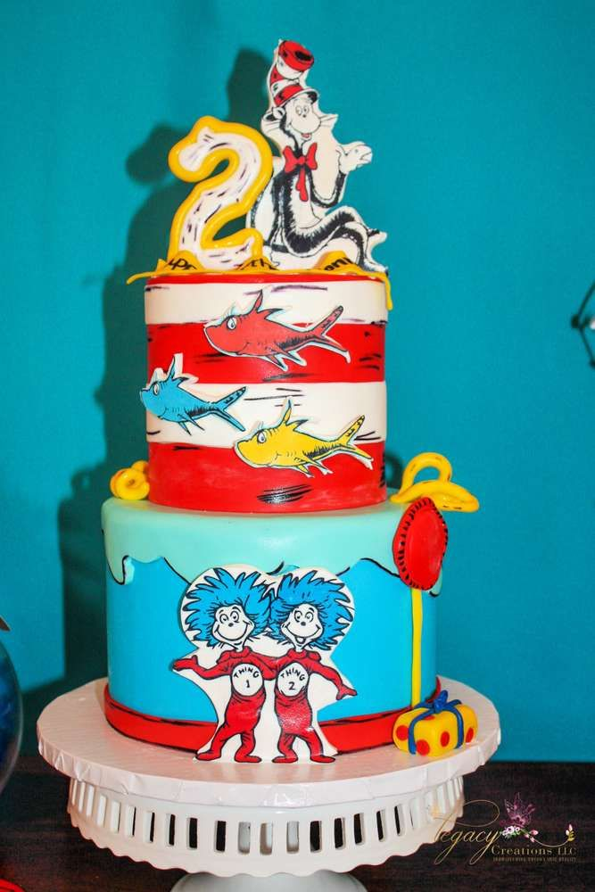 Dr Seuss Birthday Party Ideas Photo 9 Of 34 Dr Seuss Birthday Party Cool Birthday Cakes Dr Seuss Cake