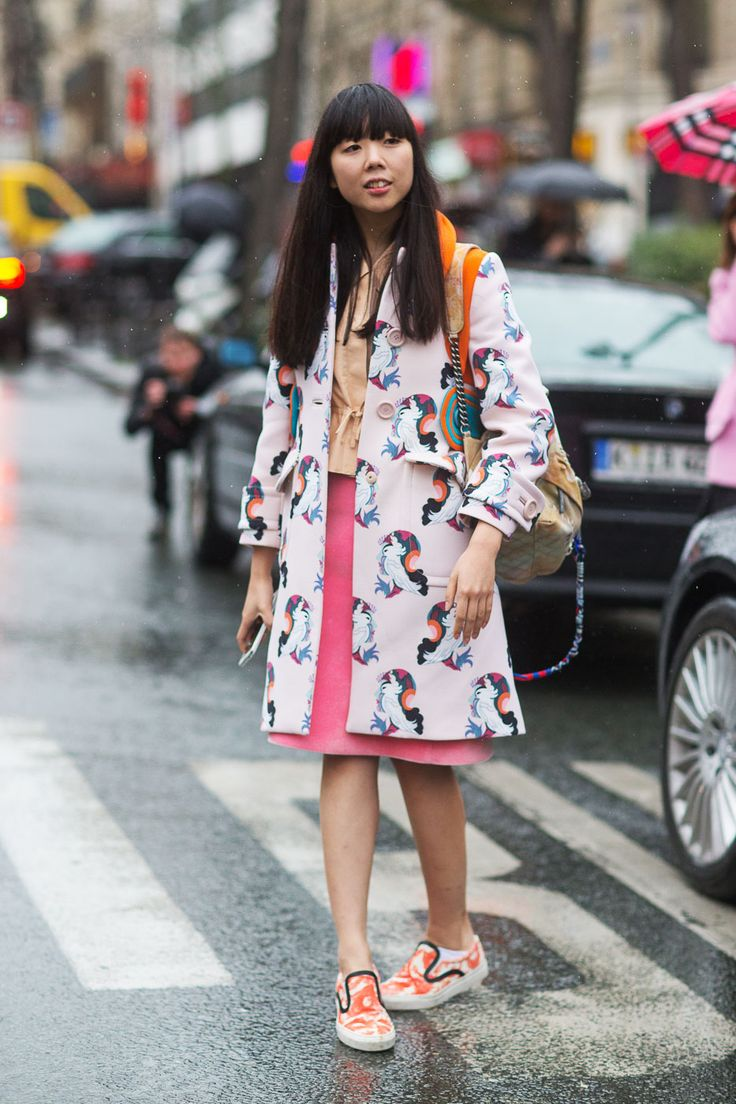 Susie Lau in Miu Miu / Fashion Street Paris Fashion Week Fall 2014.