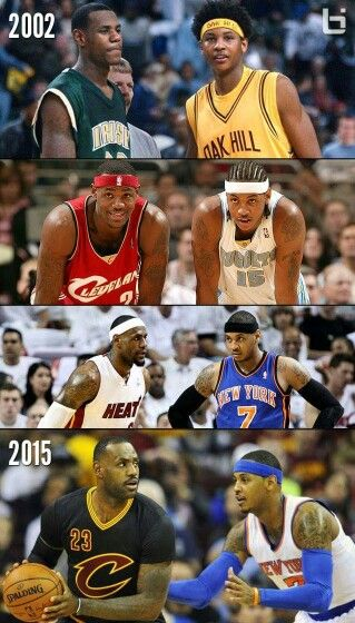 LeBron James With Carmelo Anthony