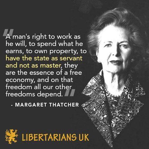 Free market - Margaret Thatcher