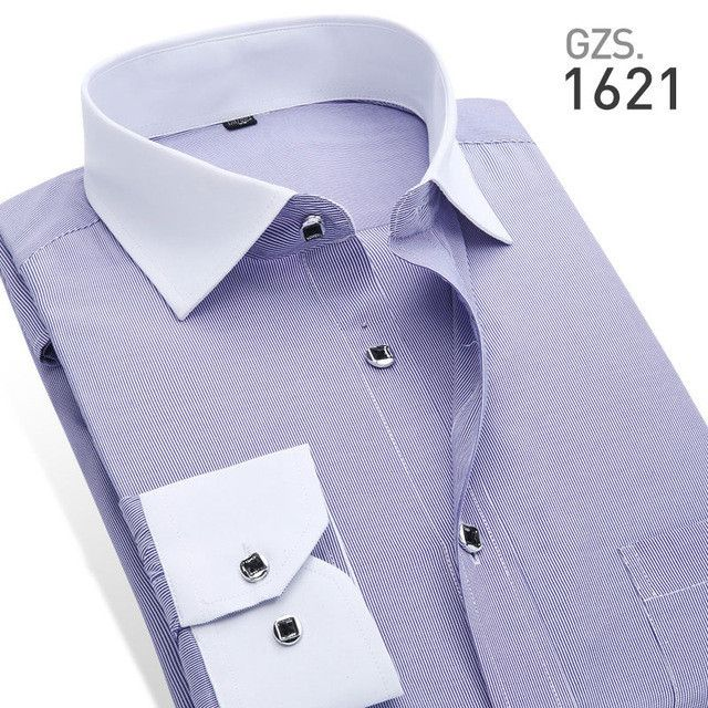 Men's Striped Shirts For Work/Office Wear Men's Business Formal Dress Shirts Brand High Quality Men's Casual Shirts