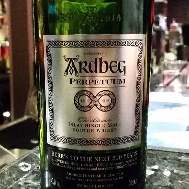 Ardbeg Perpetuum. Pretty good, but I expected more to be honest. #ardbeg #whisky
