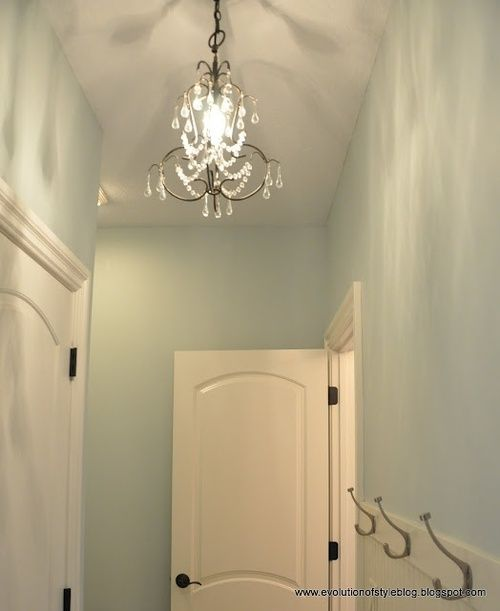 Sea Salt by Sherwin Williams. Love the sea salt and white for bathroom.