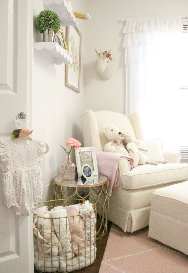 Baby Girl Nursery Glider Chair - Sophistifunk
