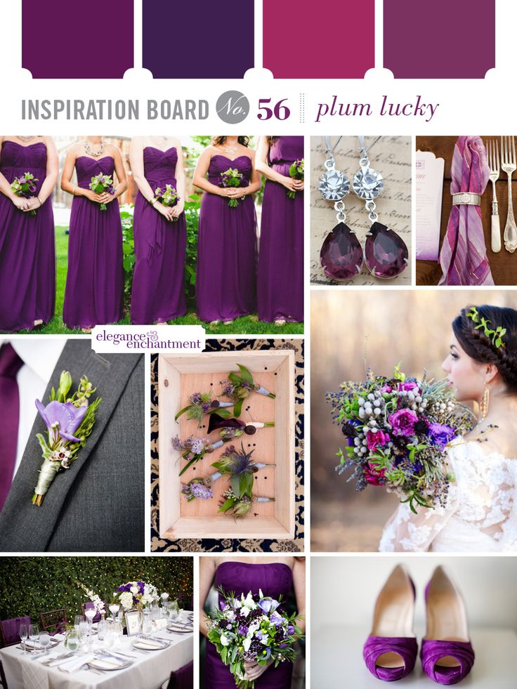 Plum Lucky Wedding Inspiration | from Elegance & Enchantment