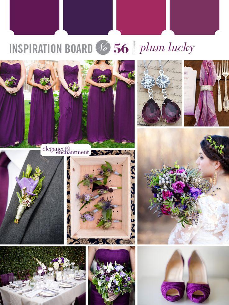Plum Lucky Wedding Inspiration | From Elegance U0026 Enchantment