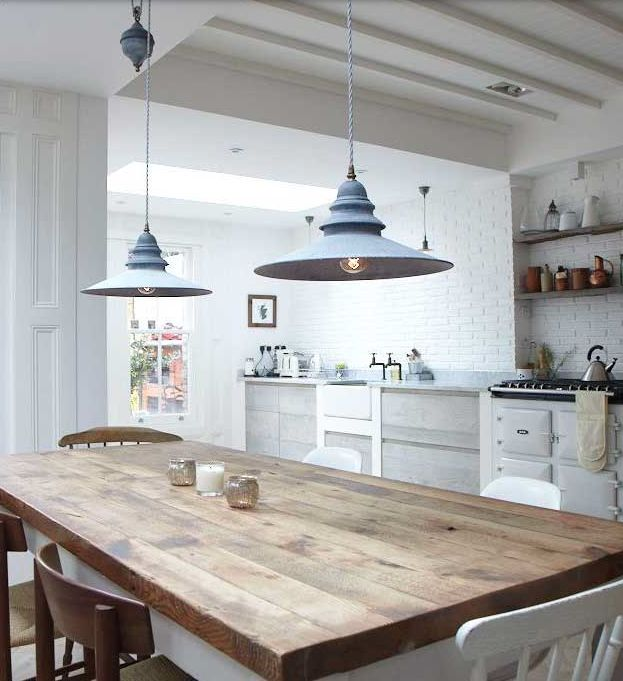 Nautical Lights in Kitchen