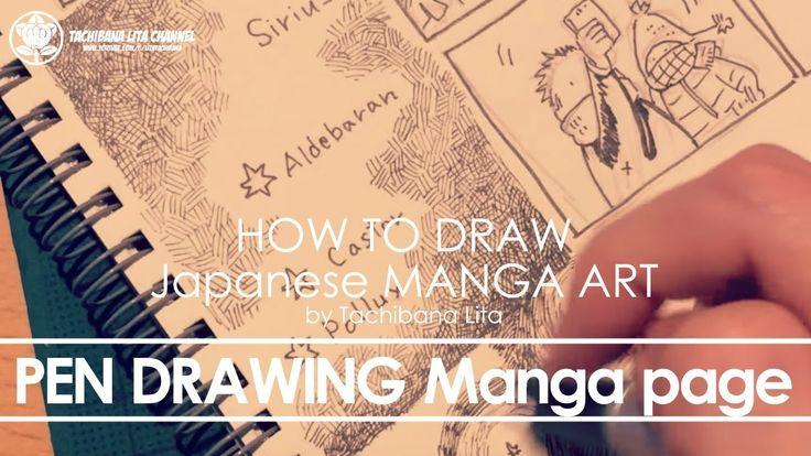 ✔ Pen Drawing Manga page   How to draw Manga Art 2017.12.24