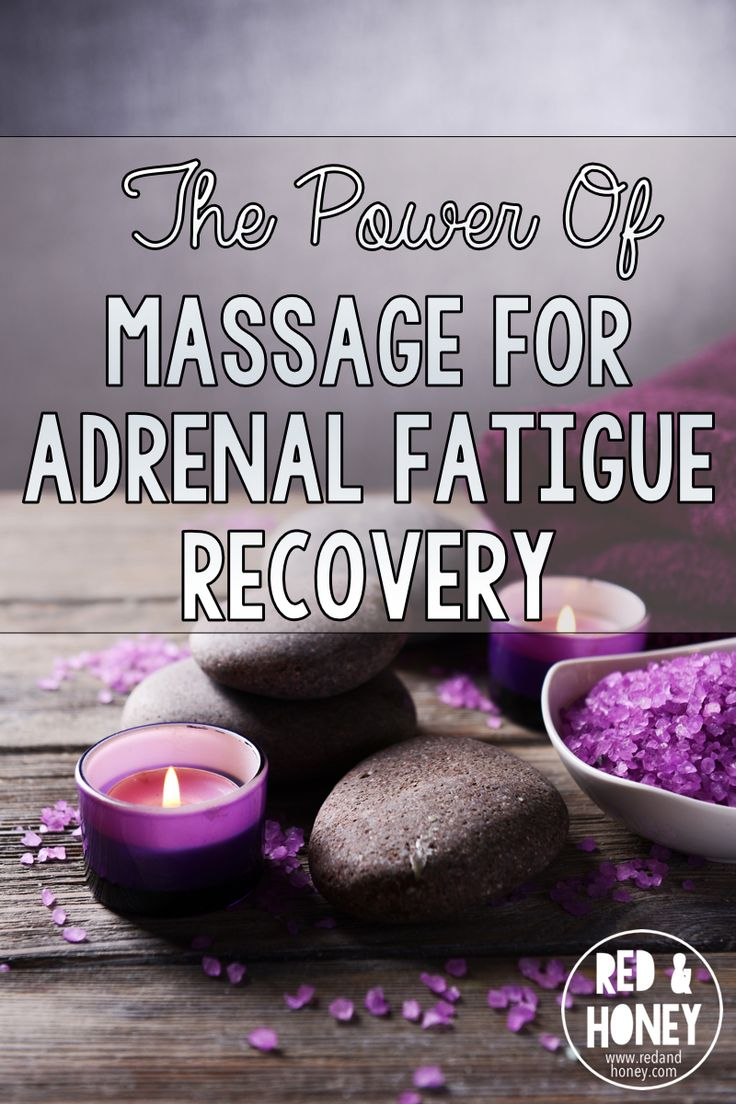 """""""Massage for adrenal fatigue is actually an ingenious addition to my healing protocol because it has a direct, measurable impact on your biochemistry!"""" YES! Finally a healthy change that feels more like a treat in this adrenal fatigue recovery process. :)"""