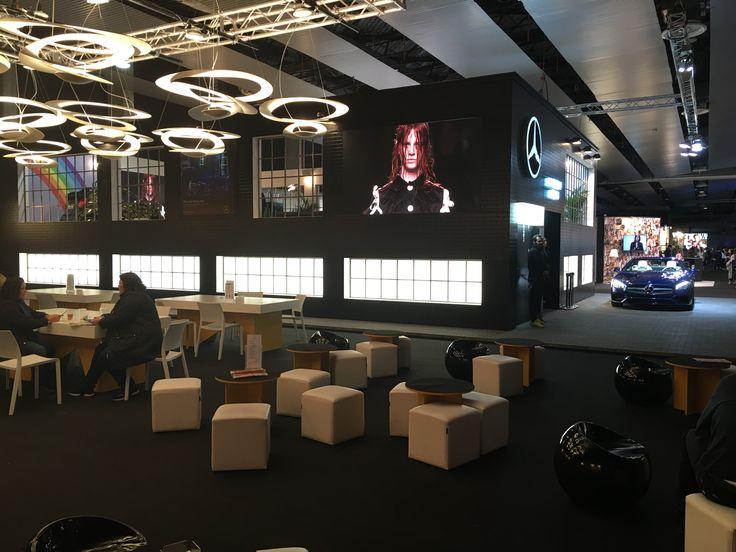 Digital Signage realizada para la edición de la pasarela de moda Mercedes Fashion Week Show 2016 #digitalsignage #marketing #iluminación #MFWS2016 #videocontent