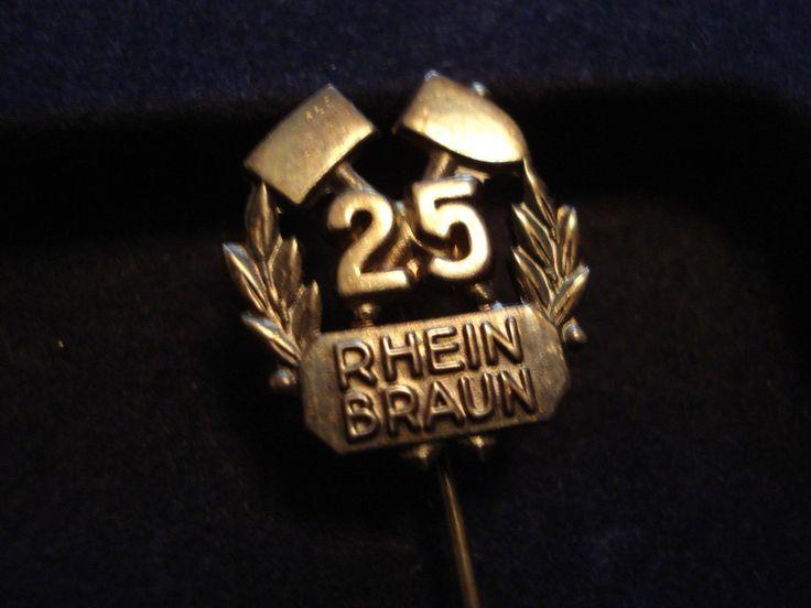 Anstecker – Rhein Braun – Rheinische Braunkohlenwerke RAG – 25 Jahre – 925er AG – Sebastian Eilers