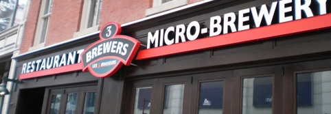 Located at the heart of Toronto's downtown core, Yonge & Dundas Square, is the award-winning 3 Brewers Micro-Brewery.  This restaurant has delicious food, thirst-quenching beer and an amazing vibe!