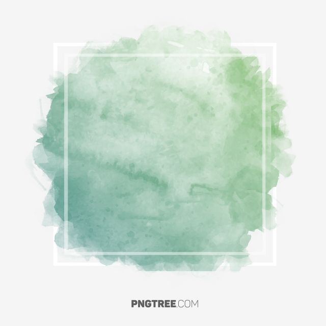 Royal Green Pastel Watercolor Frame Border Rectangle Frame Pastel Png Transparent Clipart Image And Psd File For Free Download Watercolor Splash Watercolor Background Green Watercolor