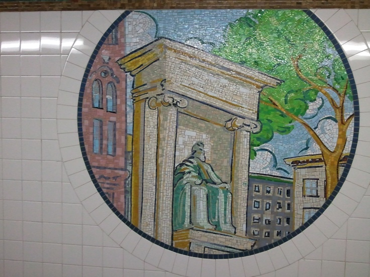 Mural at 8th Street Station on N Line