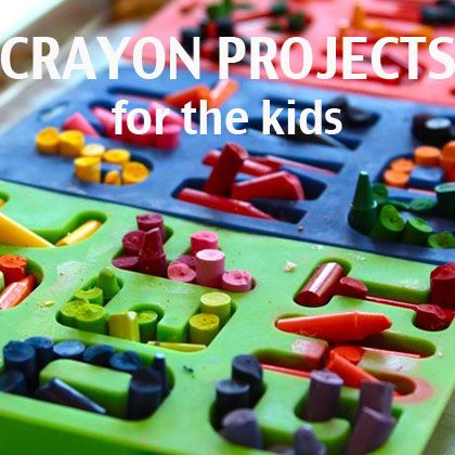 A Roundup of 15 Creative Crayon Projects to do with Kids   Spoonful