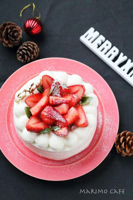 クリスマスショートケーキ ★お菓子レシピ★ : marimo cafe