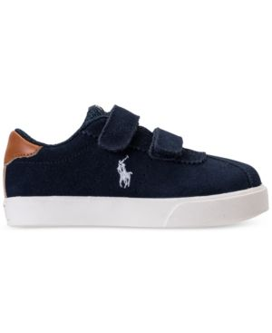 Polo Ralph Lauren Toddler Boys' Hadley Casual Sneakers from Finish Line - NAVY SUEDE 10