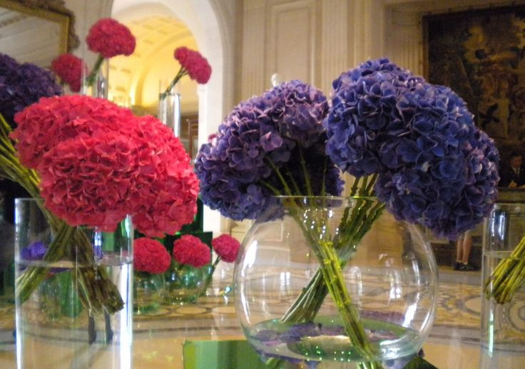 Lobby flowers at Four Seasons George V, Paris