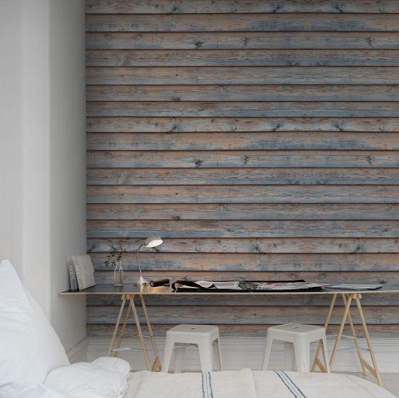 Horizontal Boards fototapet - tapet - Fri Frakt | Rebel Walls