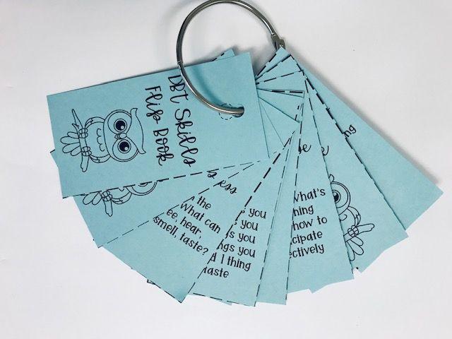 Dbt Key Ring Cards For High School Counseling Dbt Skills Dbt Dbt Skills Activities