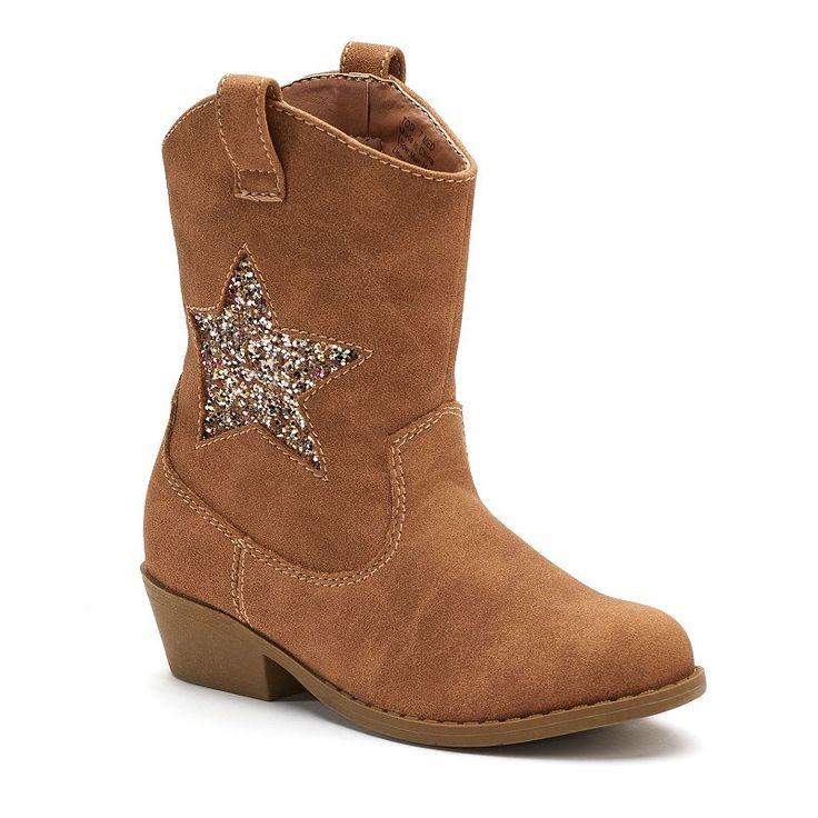 Jumping Beans® Chrissa Toddler Girls' Cowboy Boots, Brown