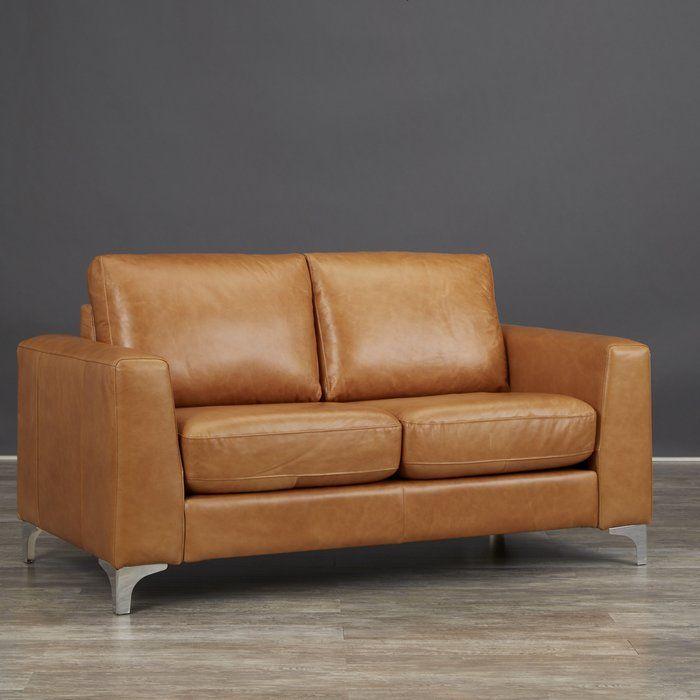 Shupe Leather Loveseat Desert Dreams Mid Century Modern Boho