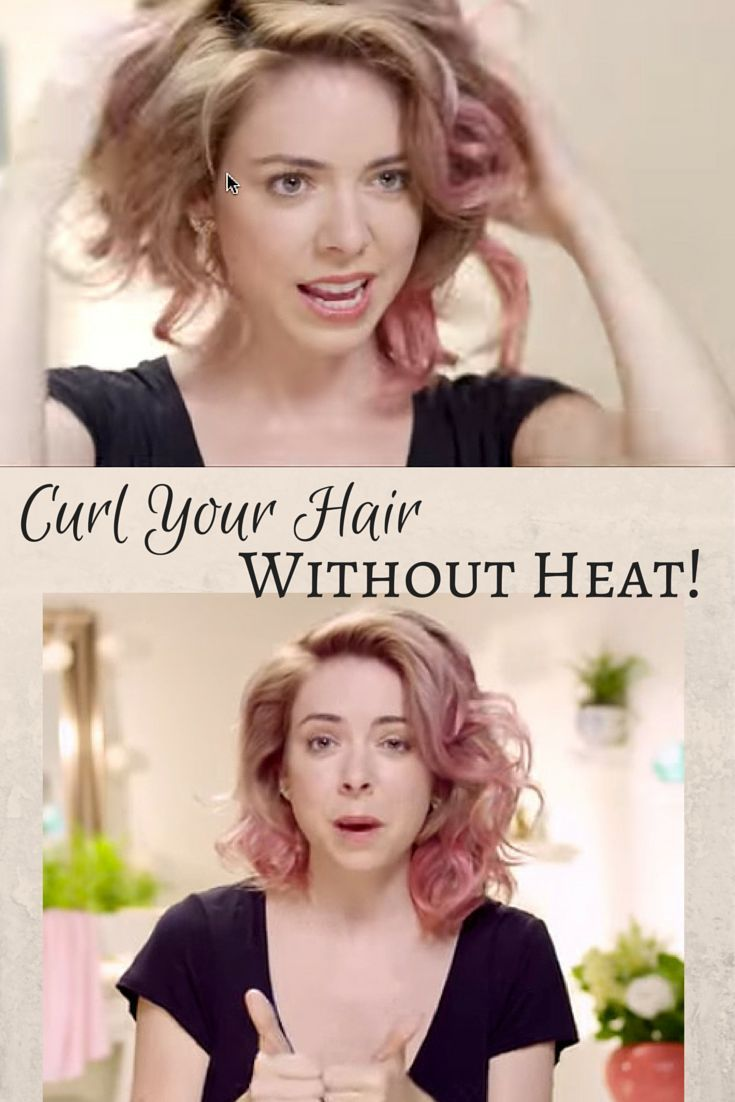 I love curly hair styles! Gotta try this hair style tutorial - how to curl your hair without heat!