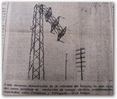Una de las torres de electricidad afectadas en la carretera de Cádiz a San Fernando (Foto Juman, de Diario de Cádiz)