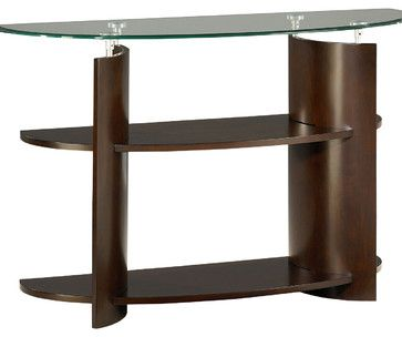 Hammary Apex Sofa Table in Dark Cherry - traditional - Console Tables - Beyond Stores