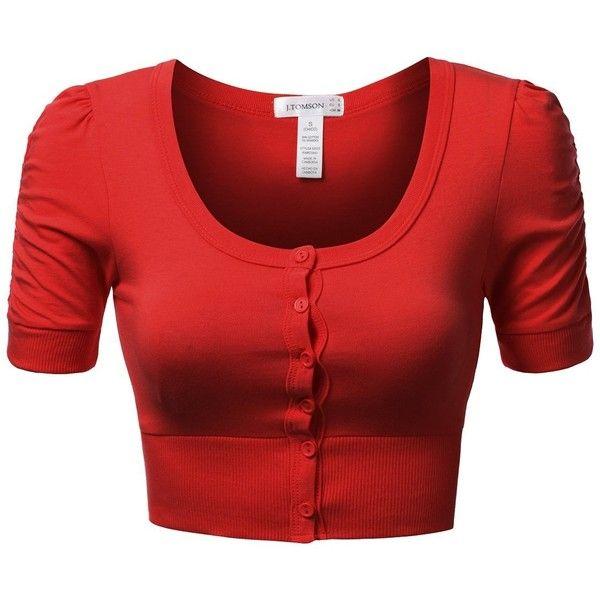 Más de 25 ideas increíbles sobre Red short sleeve tops en ...