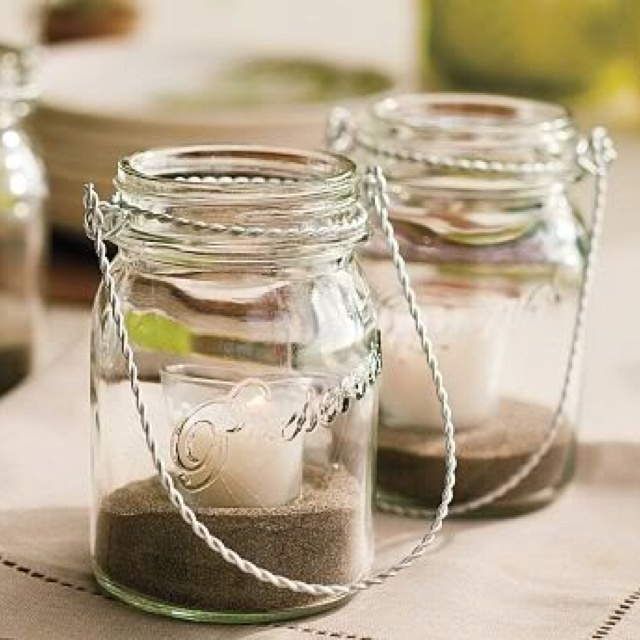 Mason jars candle holders my wedding ideas pinterest for Mason jar holder ideas