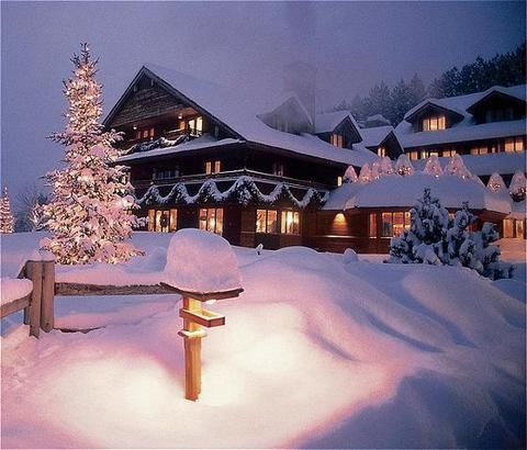 The Trapp Family Lodge * The Sound of Music * Vermont * Winter * Snow
