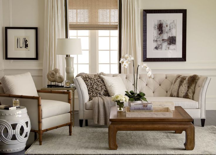 Ethan Allen Neutral Interiors Featuring Our New And Popular Shelton Sofa A Designer Favorite