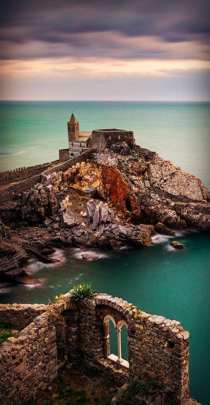 The Church of St. Peter ~ Porto Venere, Italy by Jon Reid