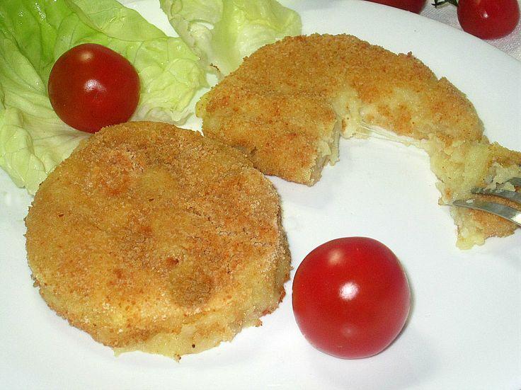 Hamburger di patate e mozzarella