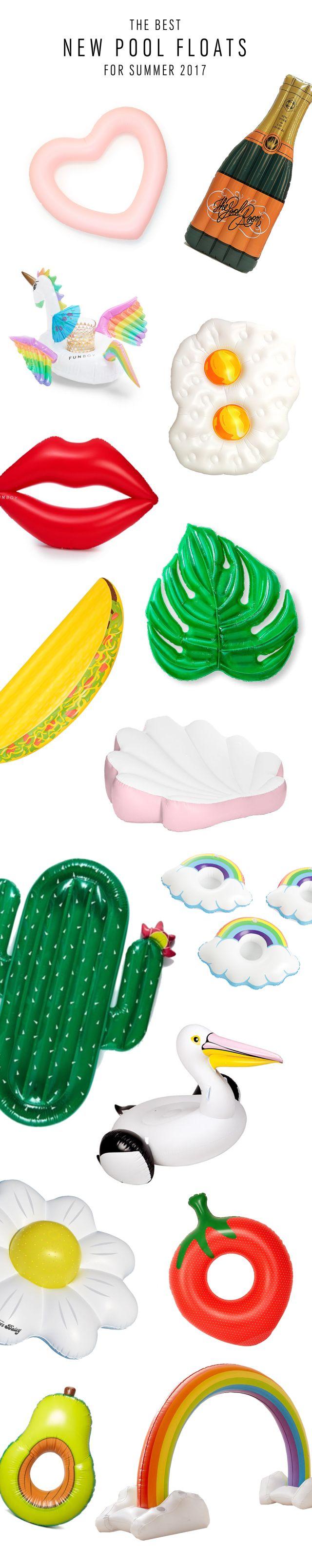 Pool floats for summer bridal shower or bachelorette party - bridal shower decor - bachelorette party ideas {Sugar & Cloth}