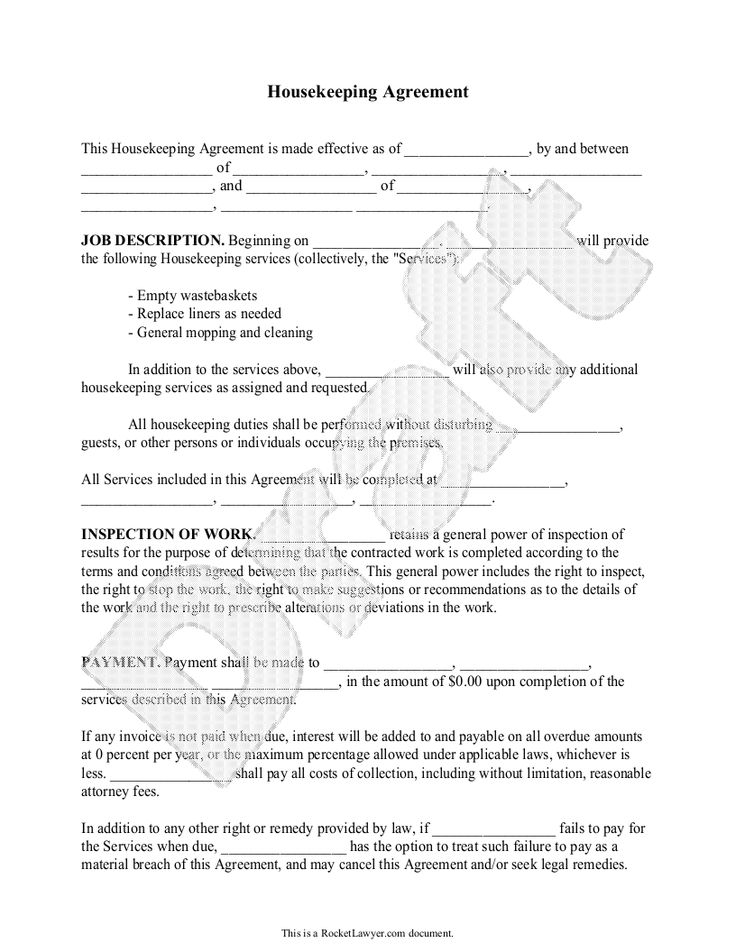 Elegant Sample Agreement Letter For Maid Graphics  Complete