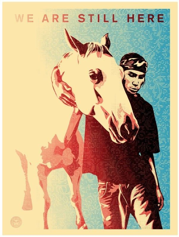 Shepard Fairey, Pine Ridge - We Are Still Here, 2011, Black Book Gallery