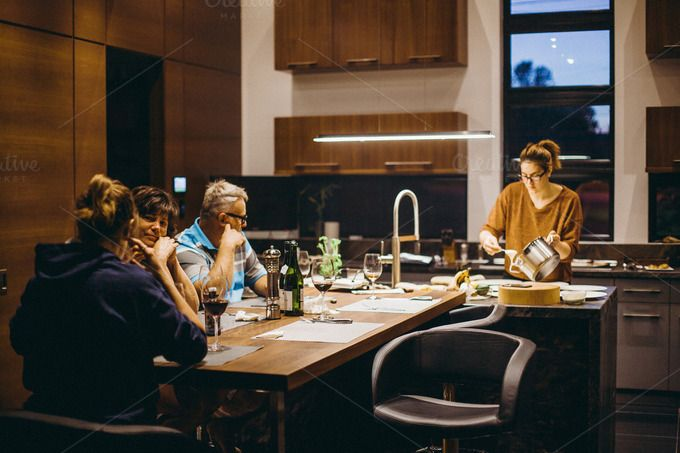 Family at Dinner by Sean Berrigan Photography on Creative Market
