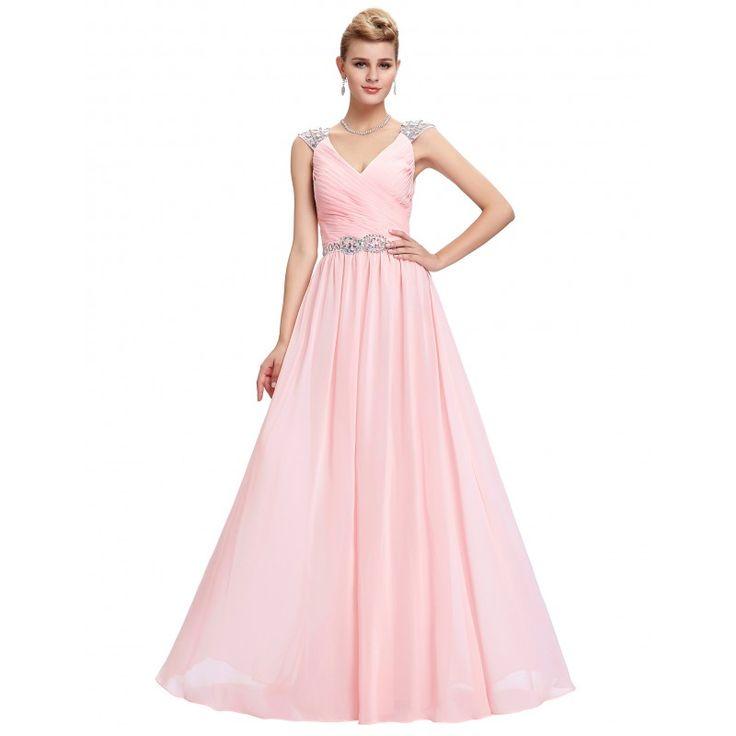 Ružové spoločenské šaty GK000065