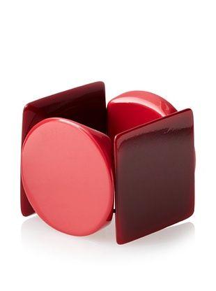30% OFF Kate Spade Saturday Garnet/Brick Red Big Shapes Bracelet