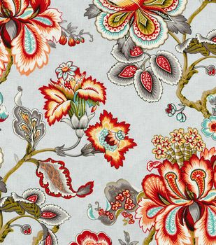 Home Decor Print Fabric- HGTV HOME Bespoke Blossoms Mineral
