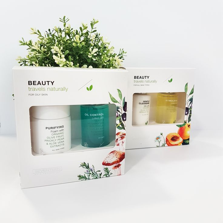Going on a trip for the holidays? Don't forget to pack your essential mini skin care travel sets! #seventeencosmetics #travelset #skincare