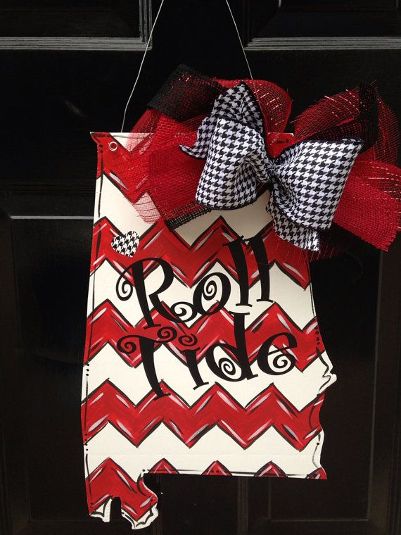 Alabama State Roll Tide Doorhanger by PaintedPriss on Etsy, $35.00