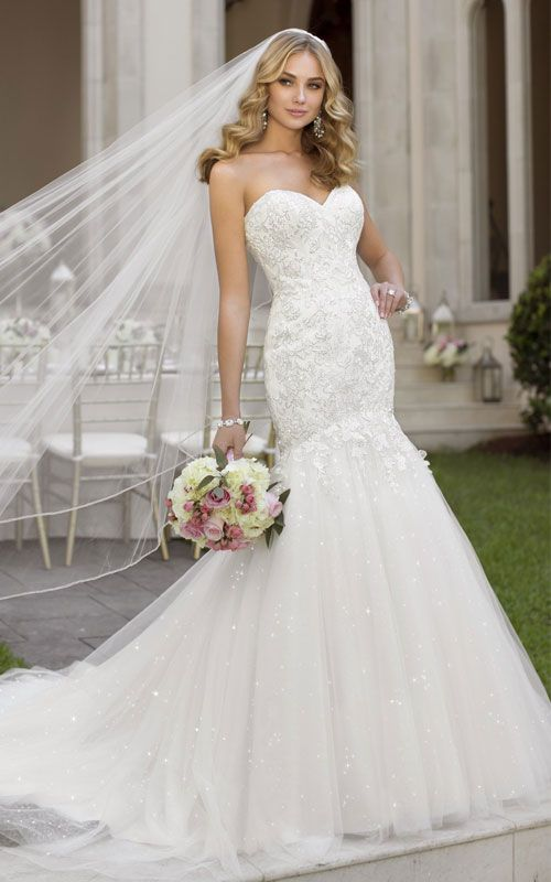 sweetheart wedding dress mermaid