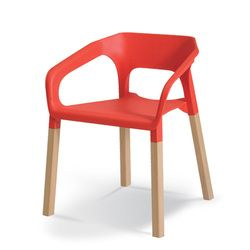 Red canteen chair